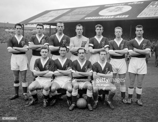 The Welsh team who beat Israel by two goals to nil in the second leg of their World Cup eliminator at Ninian park Cardiff The Welshmen went forward...