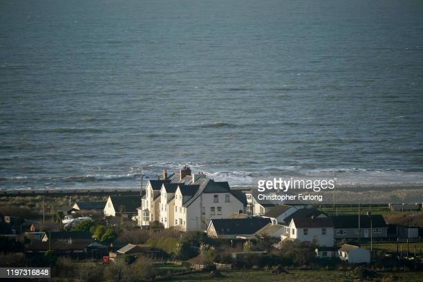 The Welsh village of Fairbourne in Gwynedd which is under threat from climate change and rising seas causing coastal erosion on January 03 2020 in...