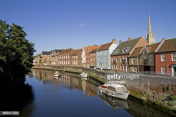 The Wensum River and the city of Norwich.