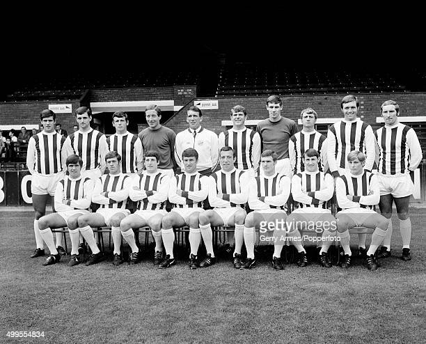 The West Bromwich Albion football team at the Hawthorns in West Bromwich 23rd July 1968 Back row Graham Lovett Eddie Colquhoun Ray Wilson Dick...