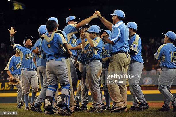 The West celebrates their win against the Southwest in the US final at Lamade Stadium on August 29 2009 in Williamsport Pennsylvania California...