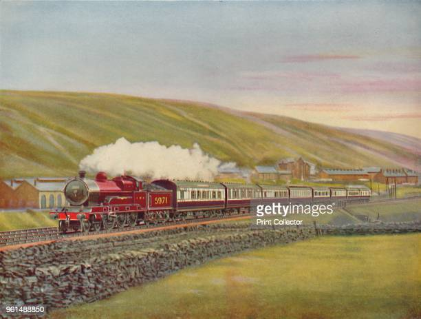 The West Coast Scotsman At Full Speed Near Tebay LMSR' 1926 From a photograph by F E Mackay From My Railway Book No 40 by Cecil J Allen [John F Shaw...