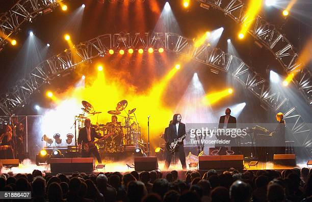 The west coast touring production of the Trans Siberian Orchestra perform at the H.P. Pavilion on December 21, 2004 in San Jose California.