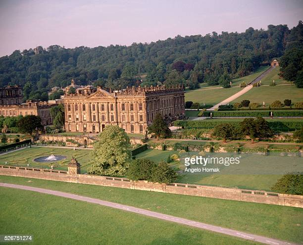 The West facade of Chatsworth was designed by the Duke of Devonshire and Thomas Archer The South front was remodelled to William Talman's design in...