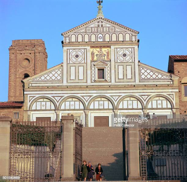 The west facade of San Miniato al Monte in Florence, 12th century.