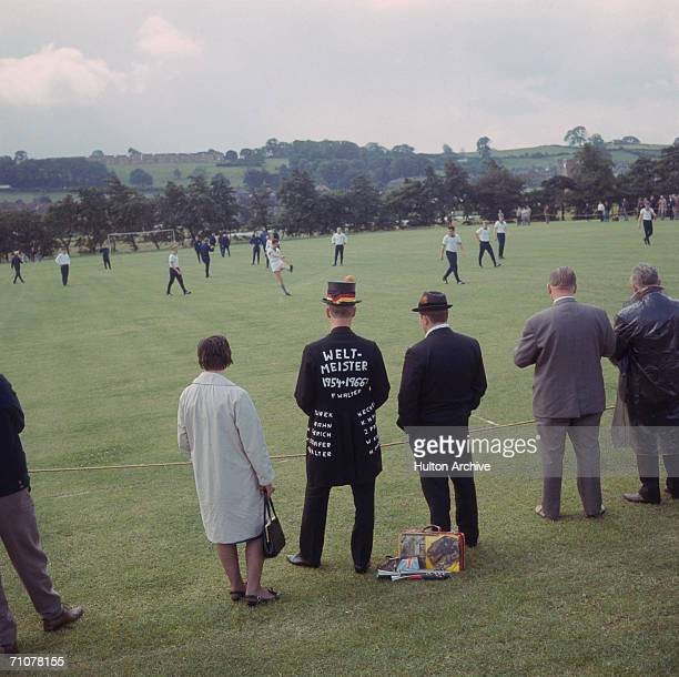 The West German squad training at Ashbourne Derbyshire during the 1966 World Cup in England 12th July 1966