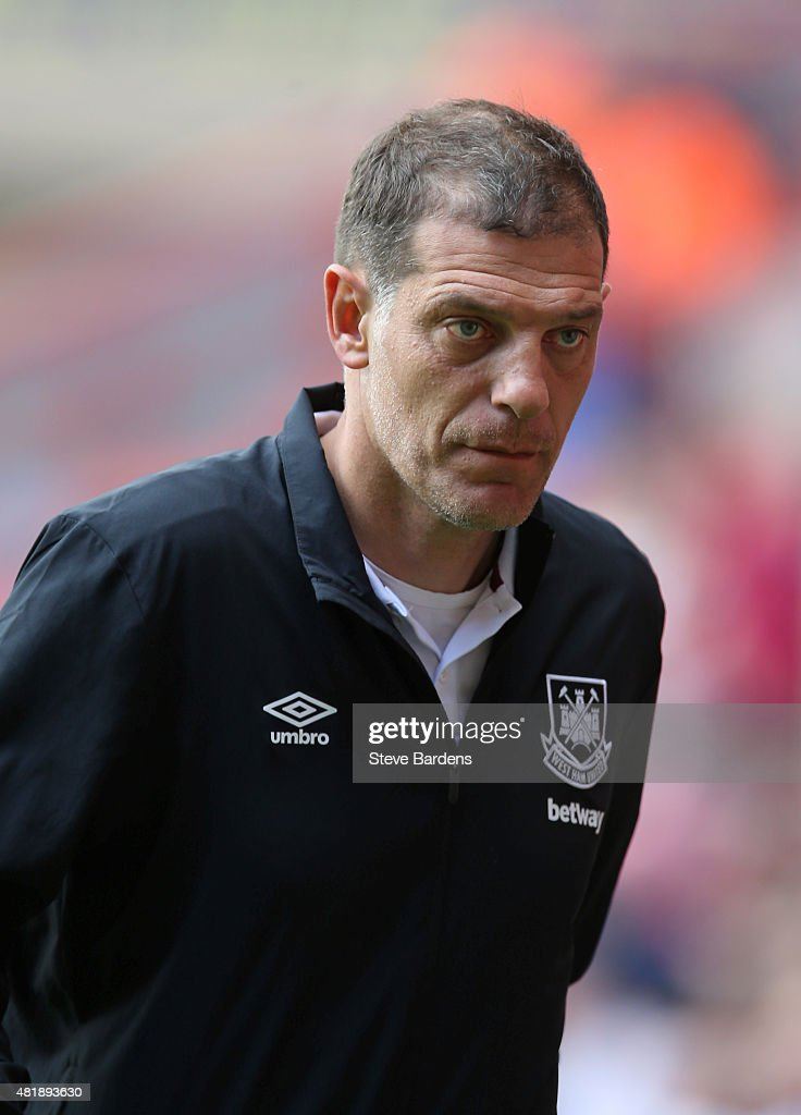 The West Ham United manager Slaven Bilic prior to the pre season friendly match between Charlton Athletic and West Ham United at the Valley on July 25, 2015 in London, England.