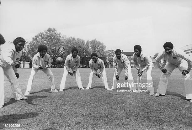 The West Indian women's tourist cricket team during practice at Lord's Cricket Ground in northwest London 1st June 1979 They will be competing...