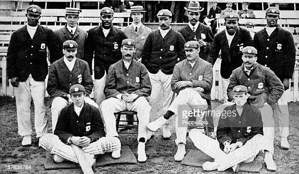 The West Indies cricket team during their tour of England circa June 1906 Back row Richard Ollivierre Charles Morrison Lebrun Constantine George...