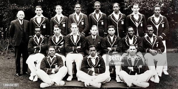 The West Indies cricket team during their tour of England in June 1939. Back row : W.Ferguson , G.Gomez, J.B.Stollmeyer, L.G.Hylton, T.Johnson,...