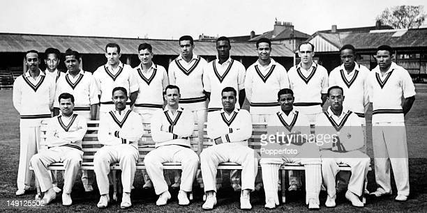 The West Indies cricket team in England May 1957 Back row Andrew Ganteaume Rohan Kanhai Nyron Asgarali Gerry Alexander Denis Atkinson Tom Dewdney Wes...