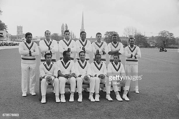 The West Indies cricket team prior to their tour match against Worcestershire at New Road in Worcester, 4th May 1966. Back row : Basil Butcher,...