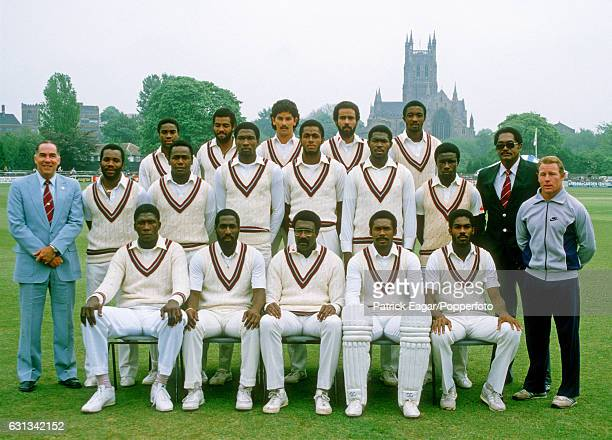 The West Indies Touring Team before the tour match between Worcestershire and West Indies at New Road Worcester 19th May 1984 Back row left to right...