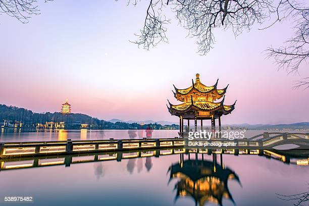 The west lake of Hangzhou