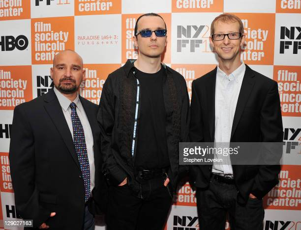 The West Memphis Three Jessie Misskelley Jr Damien Echols and Jason Baldwin attend the HBO documentary screening of Paradise Lost 3 PURGATORY at...