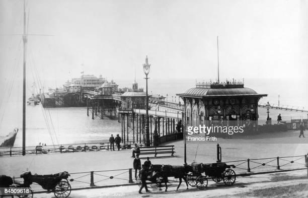 The West Pier in Brighton Sussex circa 1900