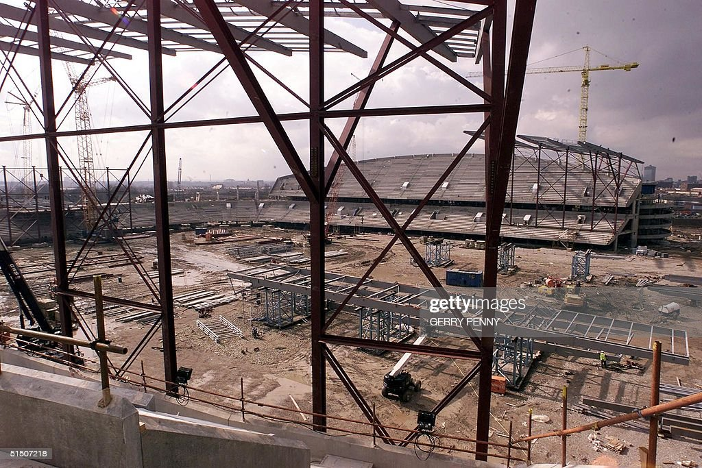 The West stand of the new Manchester Stadium 14 Ma : News Photo
