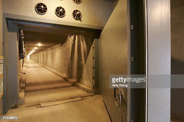 The West Tunnel Blast Door, which weighs 25 tons and serves as an entrance to a former government relocation facility, also know as the bunker, is...