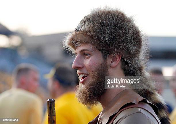 The West Virginia Mountaineer looks on before the game against the Oklahoma Sooners on September 20 2014 at Mountaineer Field in Morgantown West...