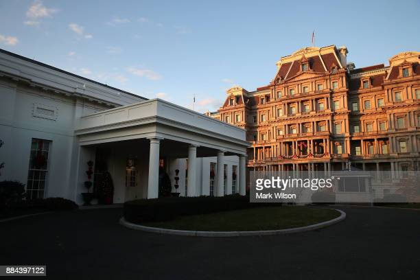 The West Wing entrance to the White House is near the Eisenhower Executive Office Building on December 2 2017 in Washington DC Later today US...