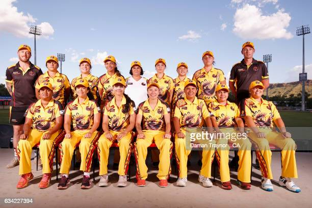 The Western Australia Womens team pose for photo on February 8 2017 in Alice Springs Australia