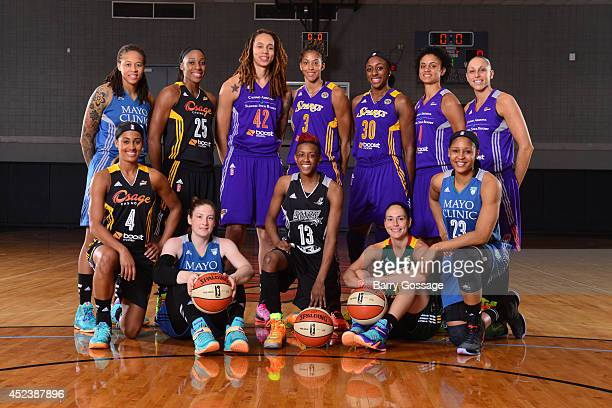 The Western Conference AllStars poses for a portrait prior to the 2014 Boost Mobile WNBA AllStar Game on July 19 2014 at US Airways Center in Phoenix...