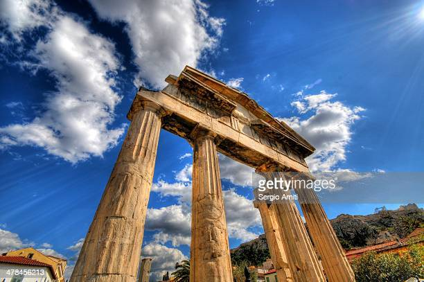 CONTENT] The western entrance to Athens' Roman forum called the Gate of Athena Archegetis just by the ancient agora