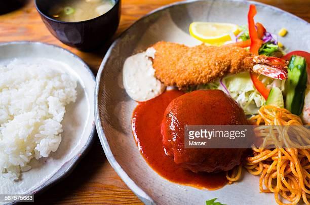 the western food in japan - yōshoku imagens e fotografias de stock