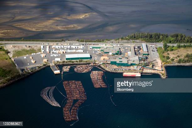 The Western Forest Products Inc. Saw mill at the Port of Nanaimo on Vancouver Island in Nanaimo, British Columbia, Canada, on Monday, May 10, 2021....