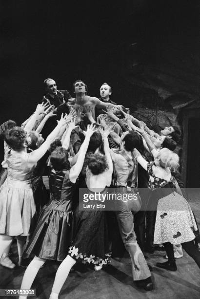 The Western Theatre Ballet during a rehearsal for 'Sun Into Darkness' at Sadler's Wells Theatre London UK 12th April 1966