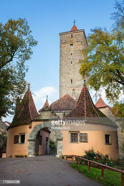 The western town gate in Rothenburg ob der Tauber, Germany