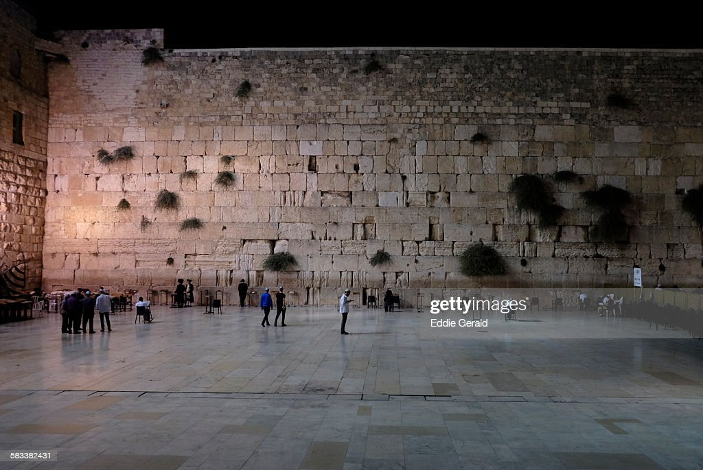 The Western Wal in Jerusalem : Stock Photo