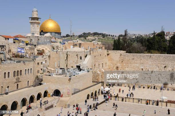 The Western Wall in Jerusalem The esplanade of the Western Wall in the Old City of Jerusalem at the foot of the western side of the Temple Mount...