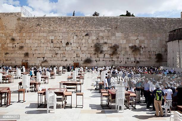 muro das lamentações, jerusalém, israel - lugar histórico imagens e fotografias de stock