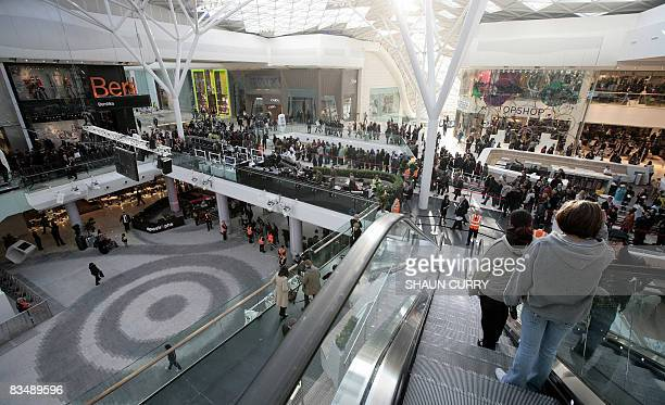 The Westfield London shopping centre is pictured on its official opening day in west London, on October 30, 2008. An enormous shopping complex --...