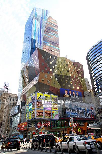 The Westin Hotel and Chevys Restaurant in Times Square in New York New York on AUG 04 2011