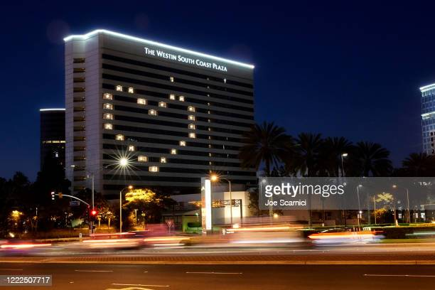 The Westin South Coast Plaza participates in Hotels With Heart Campaign during the COVID19 pandemic on May 02 2020 in Irvine California COVID19 has...