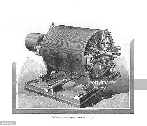 The Westinghouse Alternating Current Motor by Nikola Tesla 18881889 Private Collection Artist Anonymous