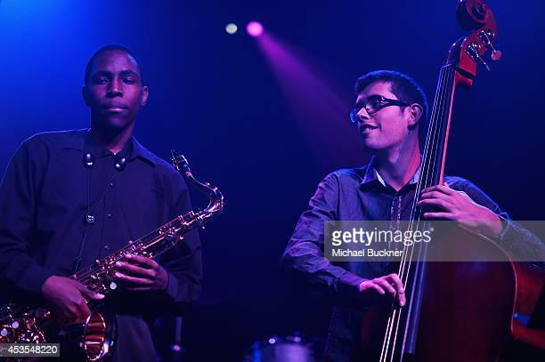 The Westlake Jazz Quintet perform during the StubHub's Next Stage Concert Series benefiting The Mr Holland's Opus Foundation at The Regency Ballroom...