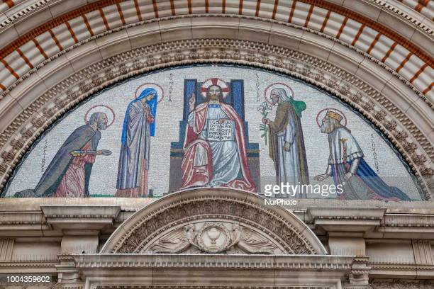 The Westminster Cathedral or the Metropolitan Cathedral of the Precious Blood of Our Lord Jesus Christ in London UK the largest Catholic church...