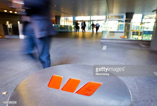The Westpac Banking Corp logo is displayed outside the company's Kent Street offices in Sydney Australia on Thursday May 3 2012 Westpac Australia's...