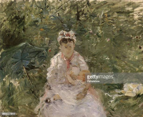 The Wet Nurse Angele Feeding Julie Manet Morisot Berthe