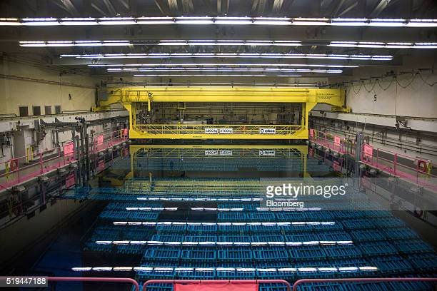 The wet storage area for spent fuel bundles is seen at the Darlington Nuclear generating station in Bowmanville Ontario Canada on Friday April 1 2016...