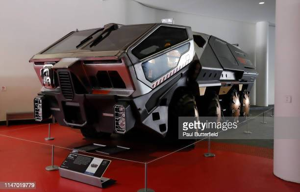The Weyland RT01 Transport from Prometheus is displayed during the opening of the new exhibit Hollywood Dream Machines Vehicles Of Science Fiction...