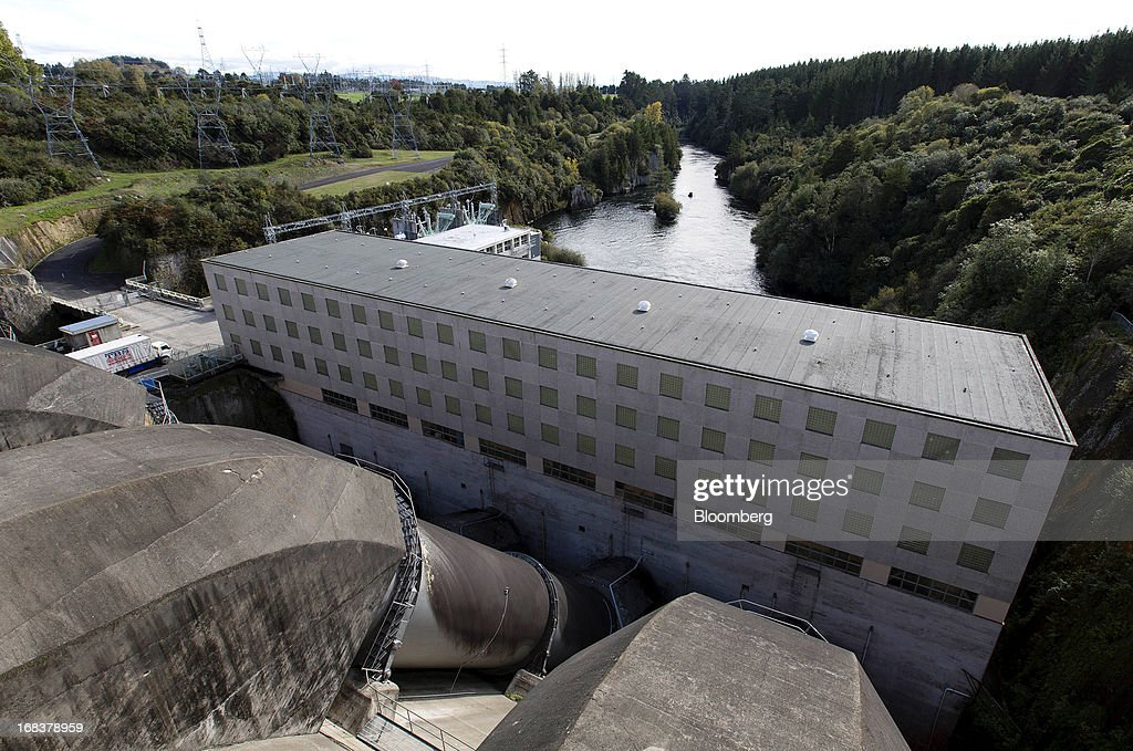 The Whakamaru hydroelectric power station, operated by Mighty River Power Ltd., stands along the Waikato River in Whakamaru, New Zealand, on Wednesday, May 8, 2013. New Zealand raised NZ$1.7 billion ($1.4 billion) from the sale of Mighty River shares as the nation's biggest initial public offering closed at a price at the lower end of the indicative range. Photographer: Brendon O'Hagan/Bloomberg via Getty Images
