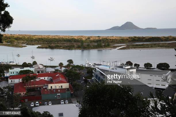 The Whakatane town centre and wharf area is seen on December 11 2019 in Whakatane New Zealand Six people are confirmed dead and several people are...