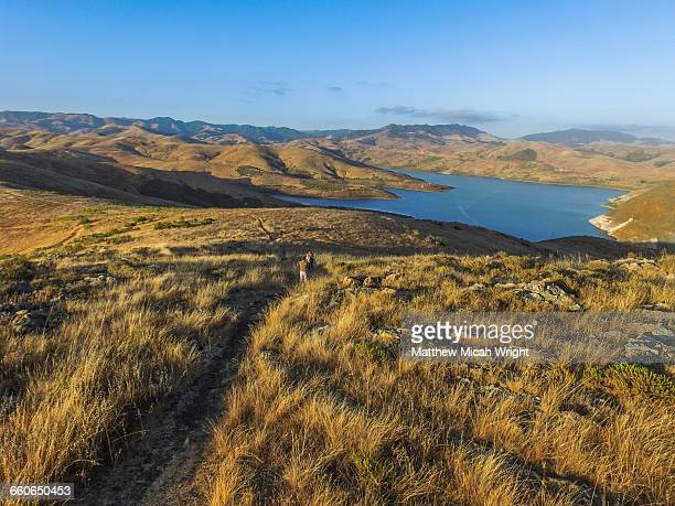 the whale rock reservoir in cayucos. - cayucos stock pictures, royalty-free photos & images