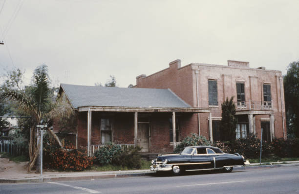 The Whaley House in the Old Town of San Diego, California,...