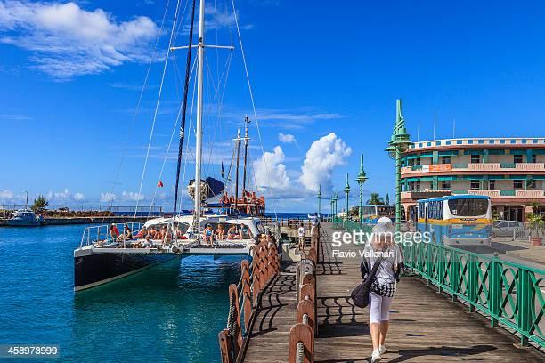 the wharf, bridgetown, barbados - bridgetown barbados stock pictures, royalty-free photos & images