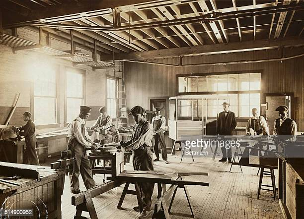 The wheelwright shop at Tuskegee Institute the famed Negro college founded in 1881 by Booker T Washington in Tuskegee Alabama